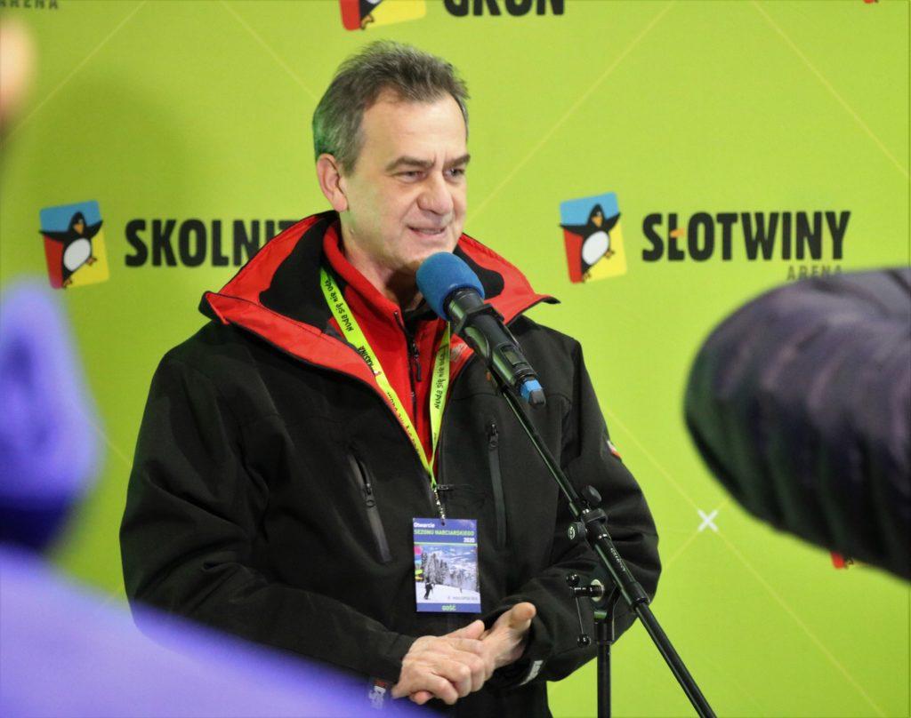 Oficjalne Otwarcie Sezonu Zimowego 2020 w Małopolsce -Starosta limanowski podczas przemówienia
