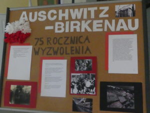SP Tymbark - gazetka, rocznica wyzwolenia Auschwitz