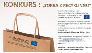 """Konkurs WM pn. """"Torba z recykligu"""" - plakat informacyjny"""