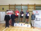 Turniej Tenisa Stołowego o Puchar Starosty Limanowskiego - laureaci na podium