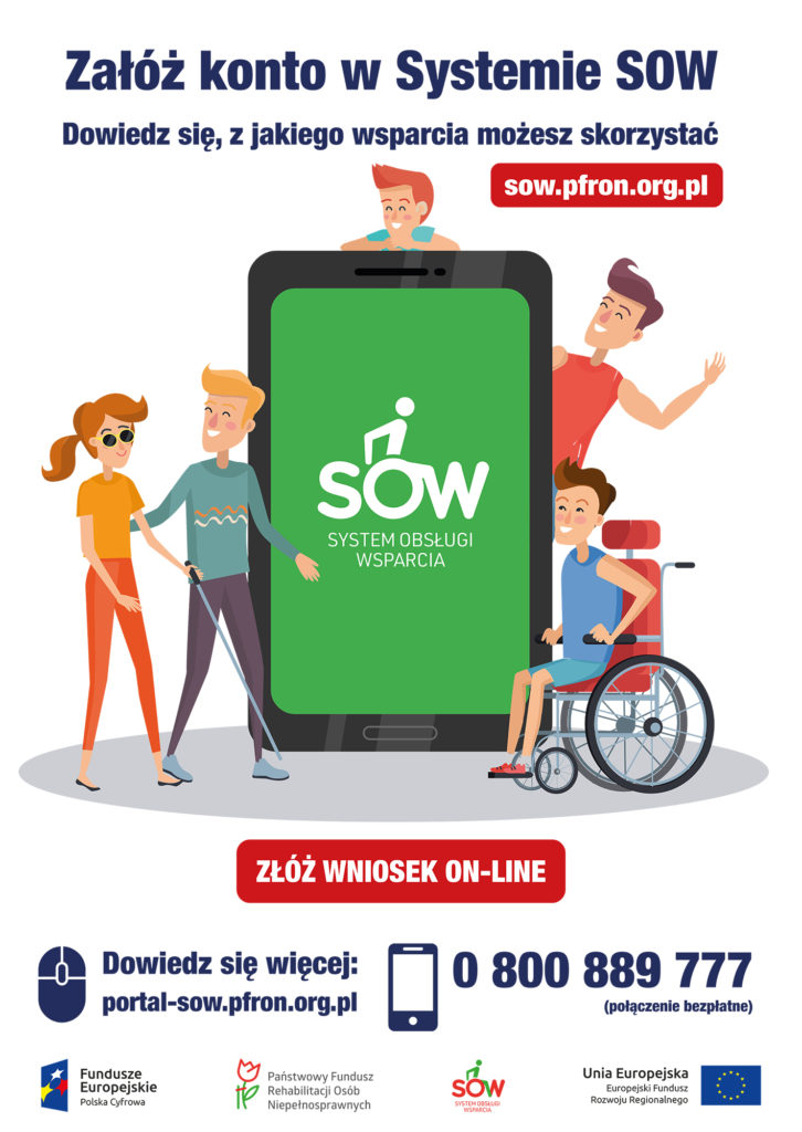 system SOW PCPR Limanowa - plakat informacyjny