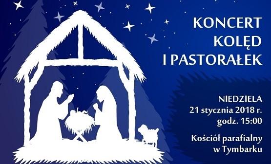 Koncert kolęd i pastorałek w Tymbarku 21.01.2020 - plakat informacyjny