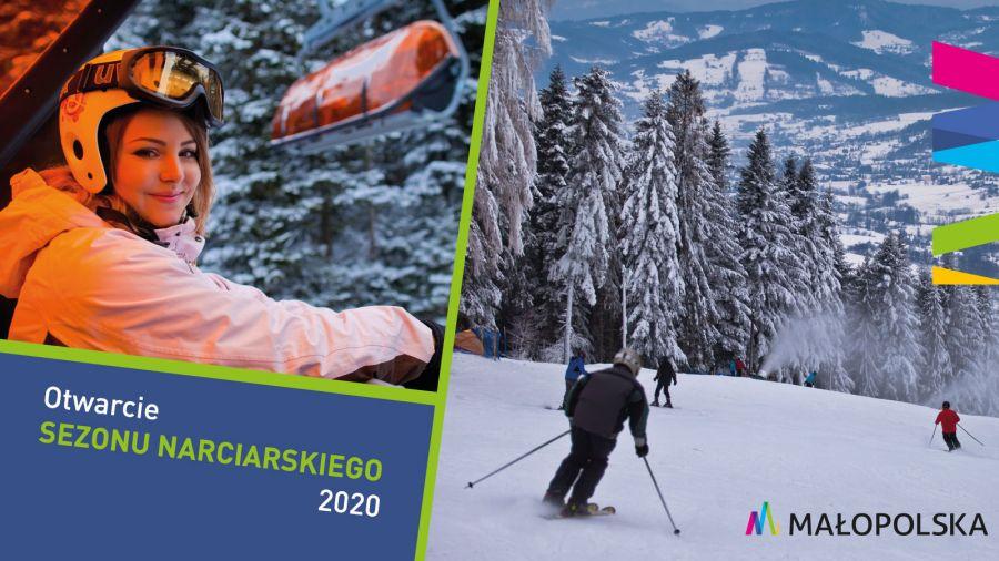 Otwarcie sezonu narciarskiego 2020 - plakat informacyjny 1