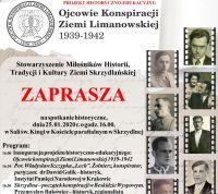 """Projekt historyczno - edukacyjny: """"Ojcowie konspiracji Ziemi Limanowskiej"""" - plakat informacyjny mini"""