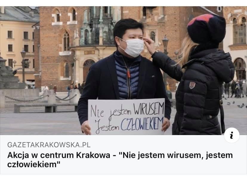 """""""Nie jestem WIRUSEM- jestem CZŁOWIEKIEM"""" - autorzy nowego spotu informacyjnego zachęcają do solidarności i tolerancji"""