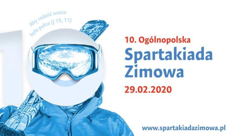 10. Ogólnopolska Spartakiada Zimowa - plakat