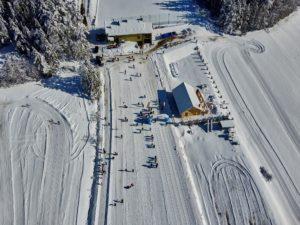 zawody w narciarstwie biegowym dla dzieci i dorosłych o Puchar Proboszcza parafii Zalesie 2020 - widok z trasy