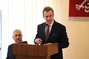 Wyróżnienia dla działaczy kultury z terenu powiatu limanowskiego - Starosta Limanowski podczas przemówienia