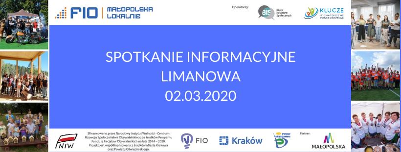 spotkanie ws. programu FIO MAŁOPOLSKA LOKALNIE - informacje