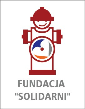 """Fundacja """"Solidarni"""" udziela wsparcia dla strażaków i ich rodzinom w całym kraju - plakat informacyjny"""