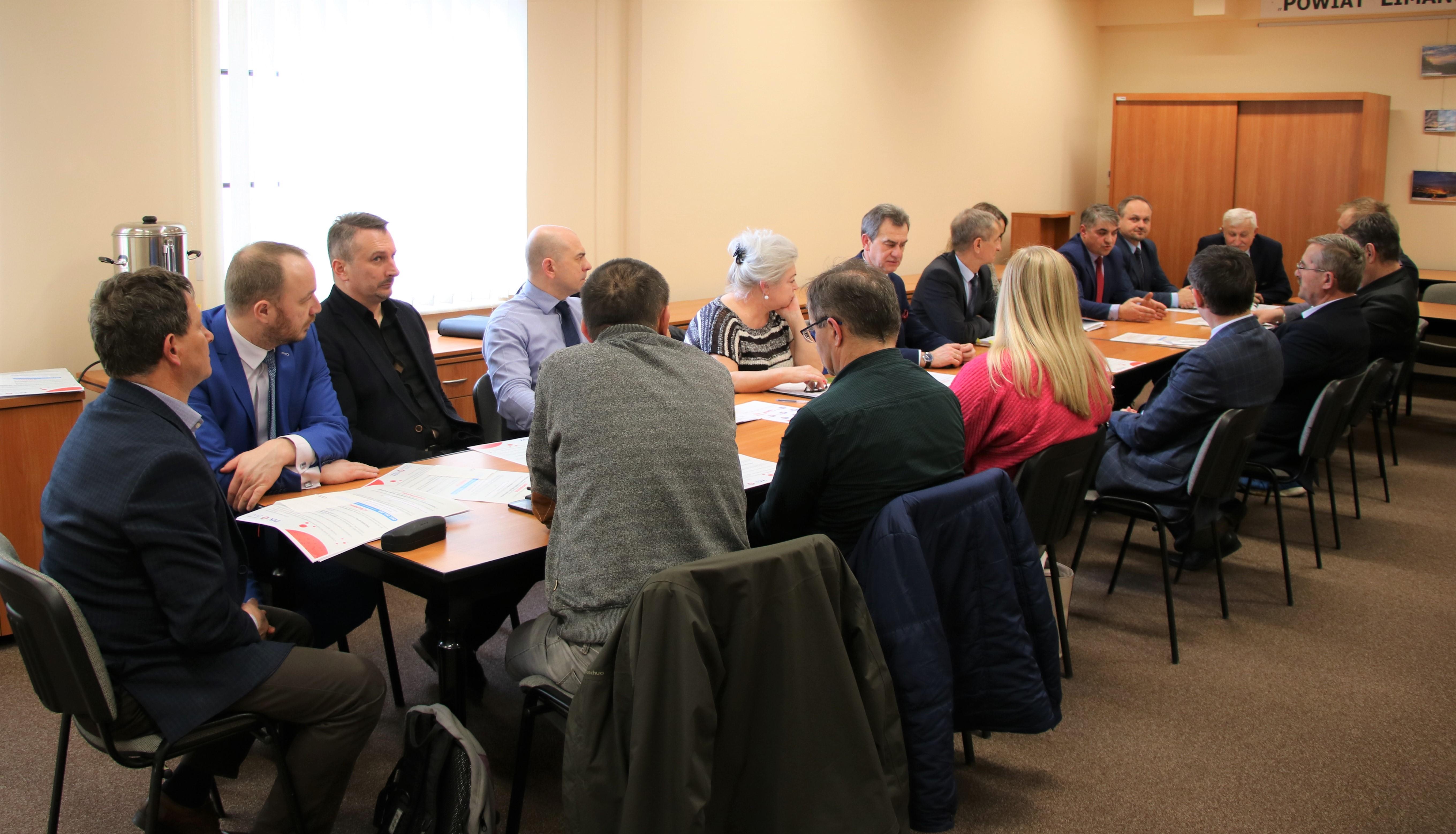 potkanie Starosty z Burmistrzami i Wójtami oraz przedstawicielami służb