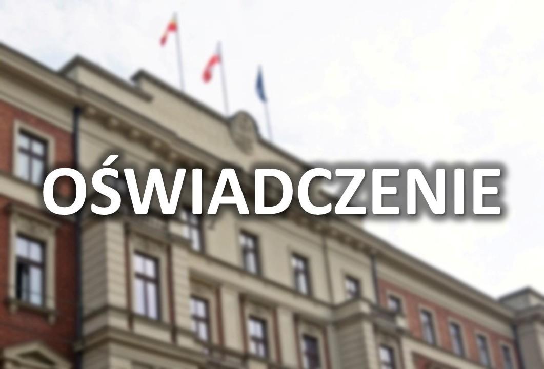 Oświadczenie wojewody małopolskiego dot. imprez masowych