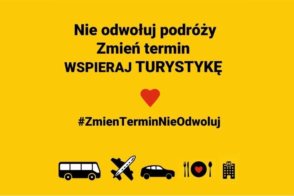 #ZmienTerminNie Odwoluj - logo akcji