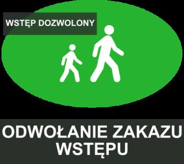 Odwołanie zakazu wstępu do lasu - logo
