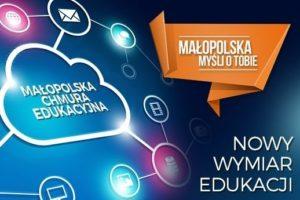 Małopolska Chmura edukacyjna - projekt, plakat nformacyjny