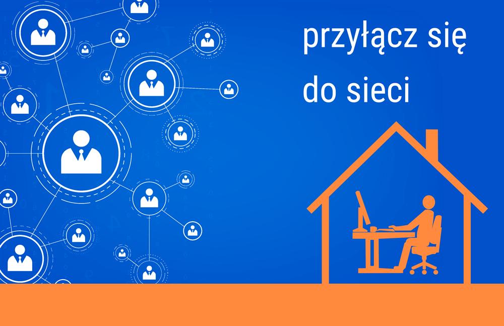 Przyłącz sie do sieci - plakat inormacyjny Małopolskiego Centrum Doskonalenia Nauczycieli