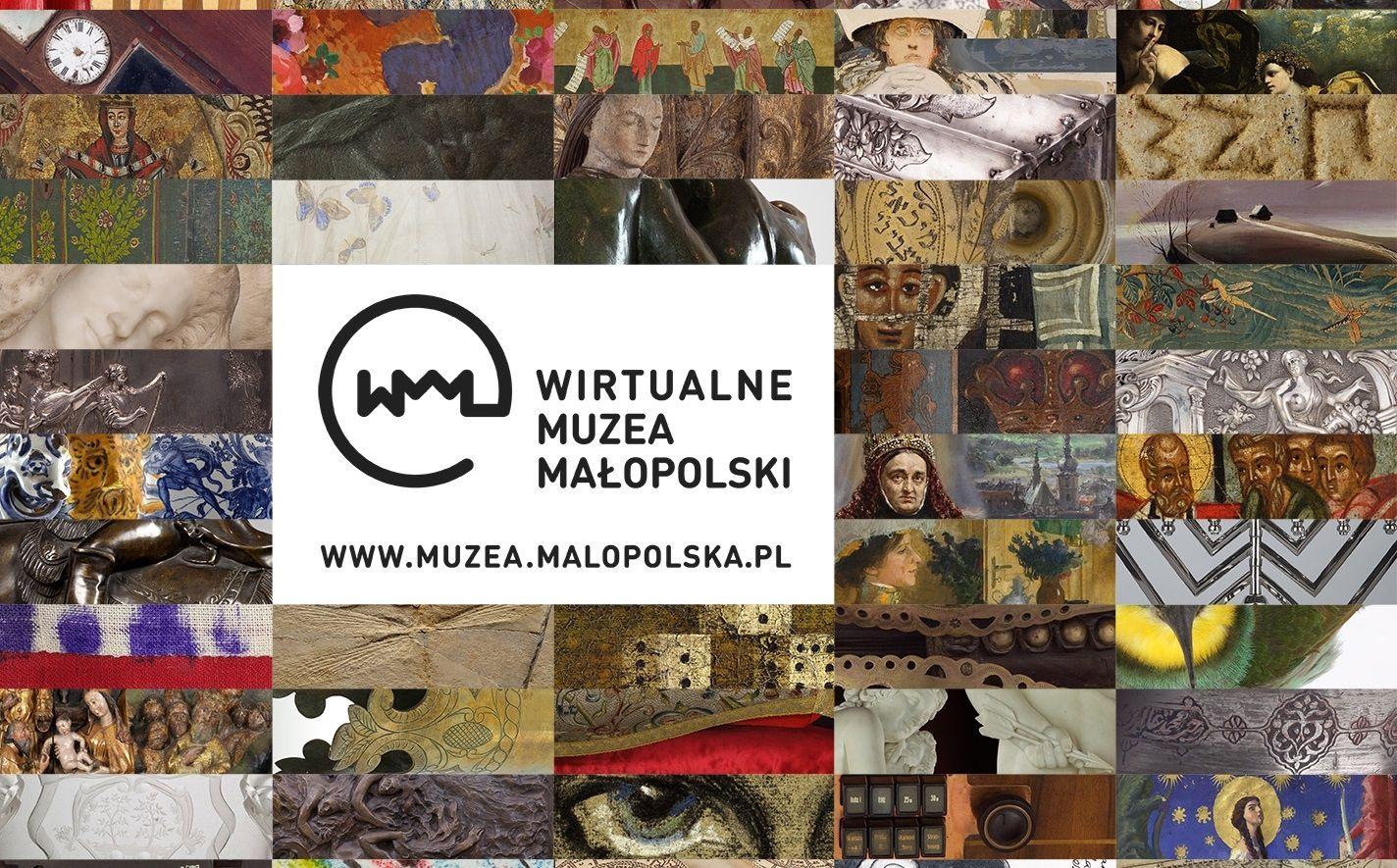 Wirtualne Muzea Małopolski - plakat informacyjny