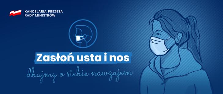 Nakaz zaslaniania ust i nosa- informacja gov.pl