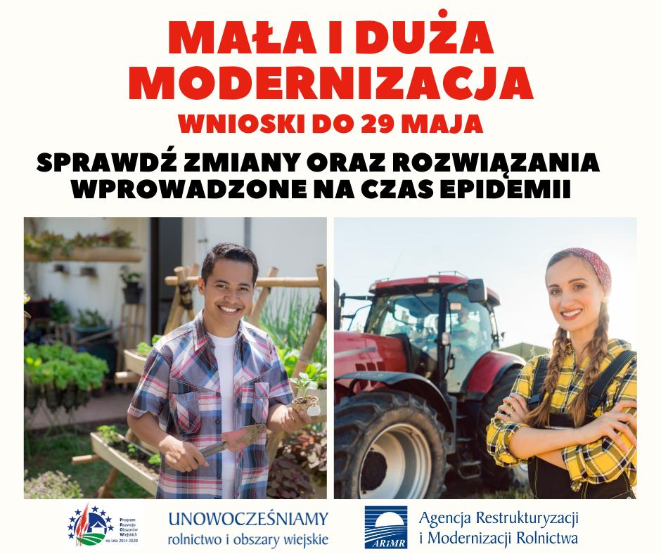 Mała i duza Modernizacja; wnioski do 29 maja - informacja