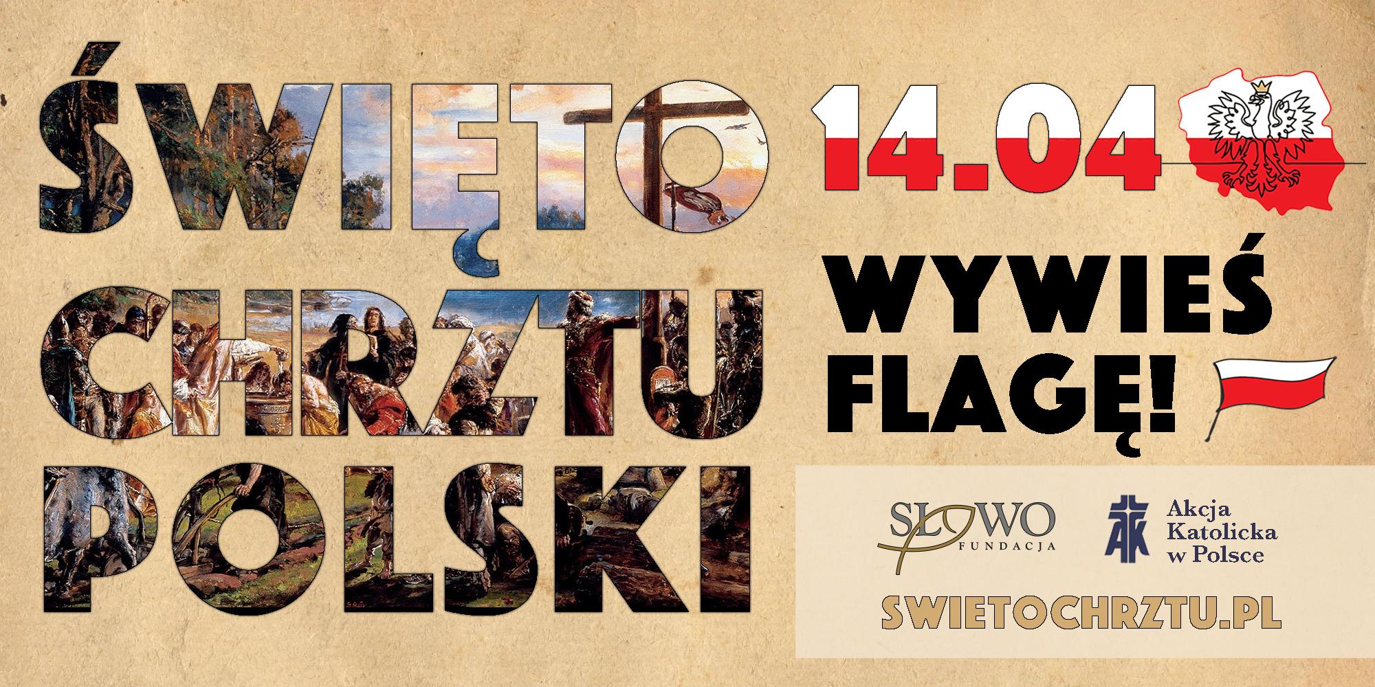 Święto Chrztu Polski 14.04.2020 - plakat informacyjny