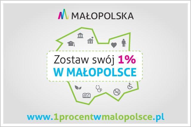 Zostaw 1% w Małopolsce - plakat informacyjny
