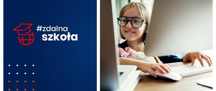 """Program """"Zdalna szkoła + - plakat informacyjny gov"""