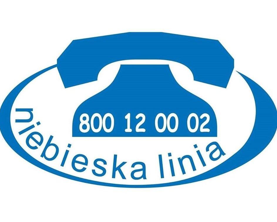 niebieska linia logo, kontakt