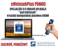 program e-wniosek plus pomoc - ARiMR; plakat informacyjny