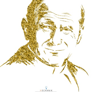 Jan Paweł II- portret wykonany ze zdjęć uczniów i nauczycieli ZSTiO w Limanowej