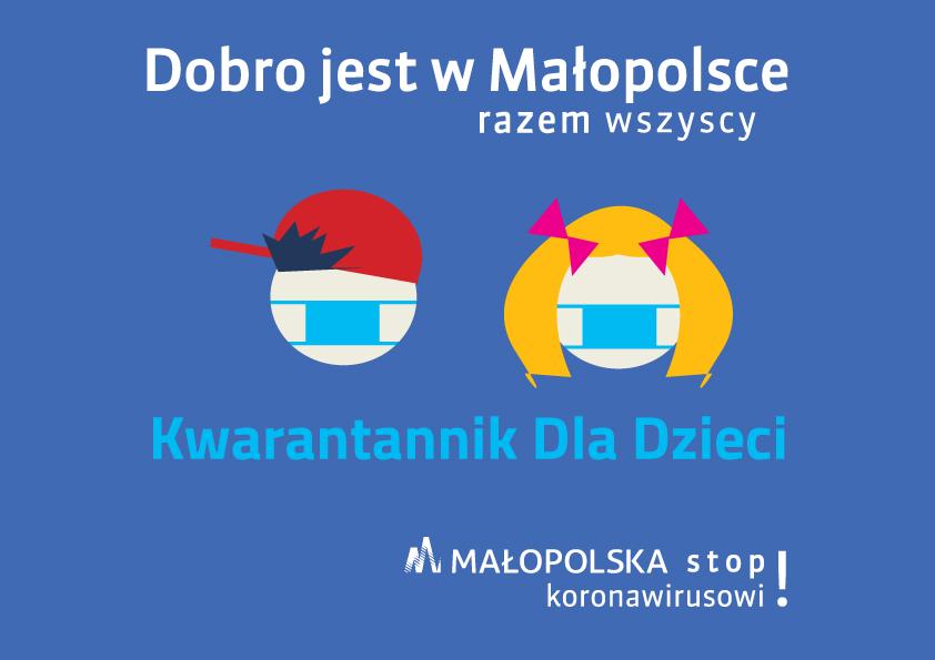 Dobro jest w Małopolsce - kwrantannik dla dzieci - grafika