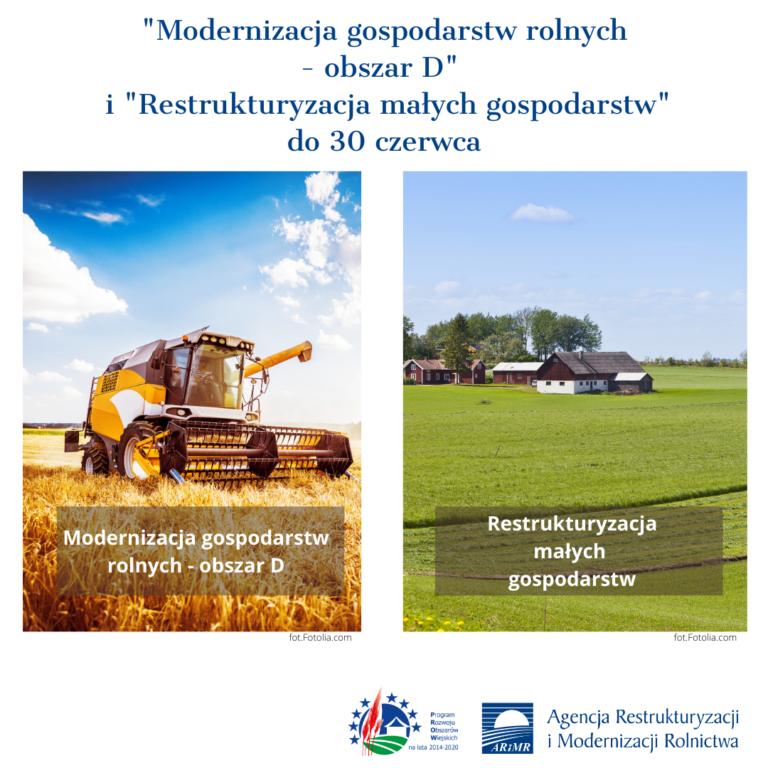 Mdernizacja i restrukturyzacja gospodarstw rolnych- plakaty informacyjne MARR