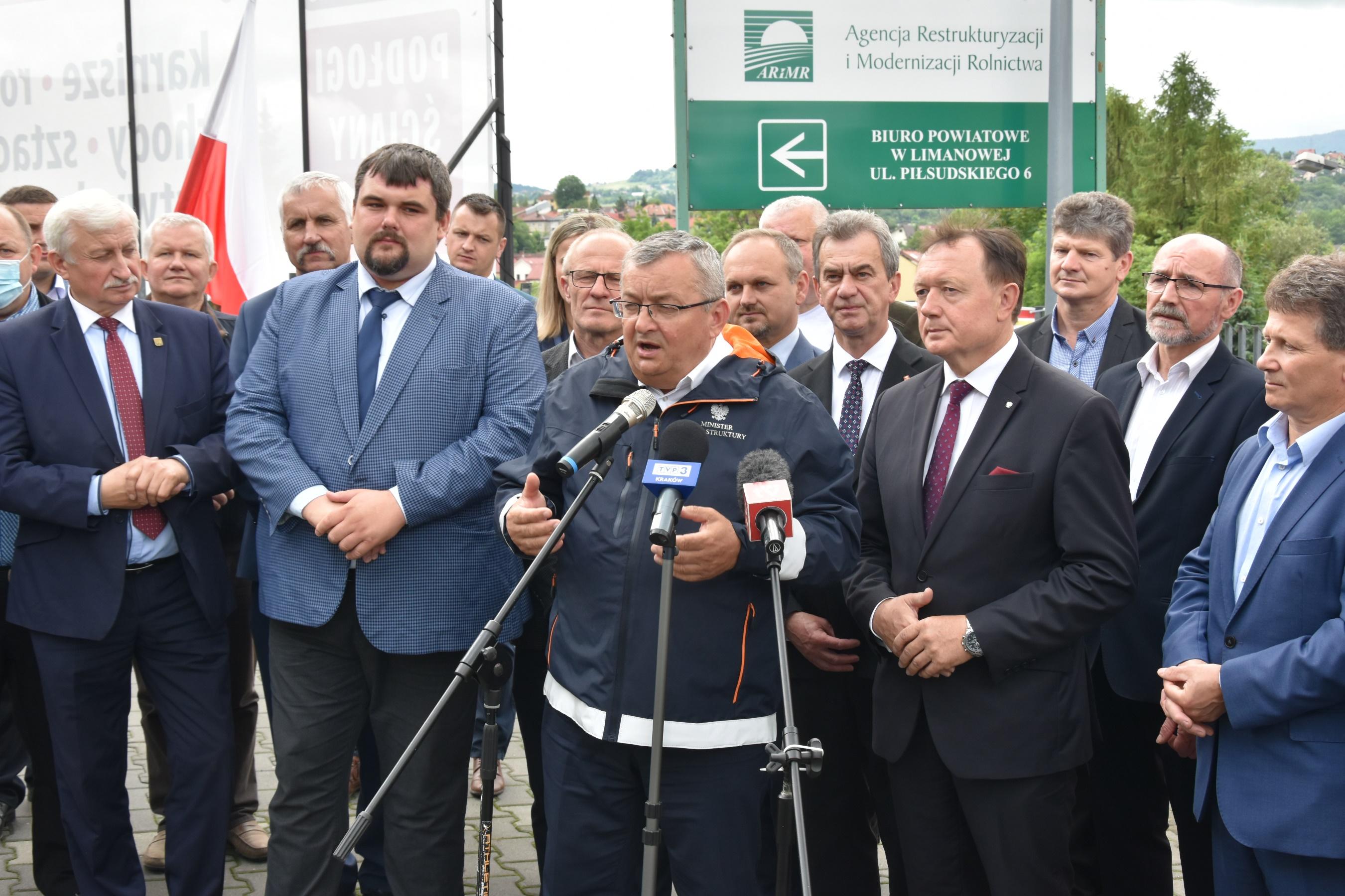 Wizyta ministra Adamczyka w Powiecie Limanowskim 9