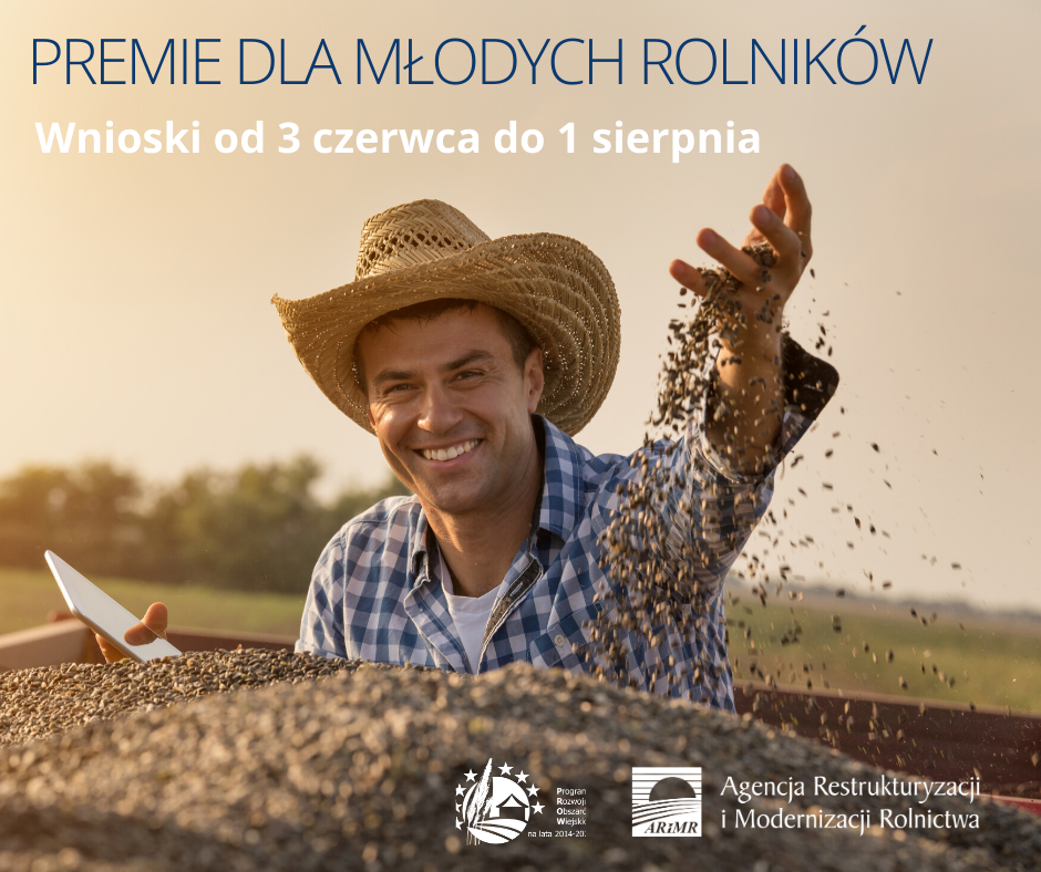 Preme dla młodych rolników - plakat informacyjny ARiMR
