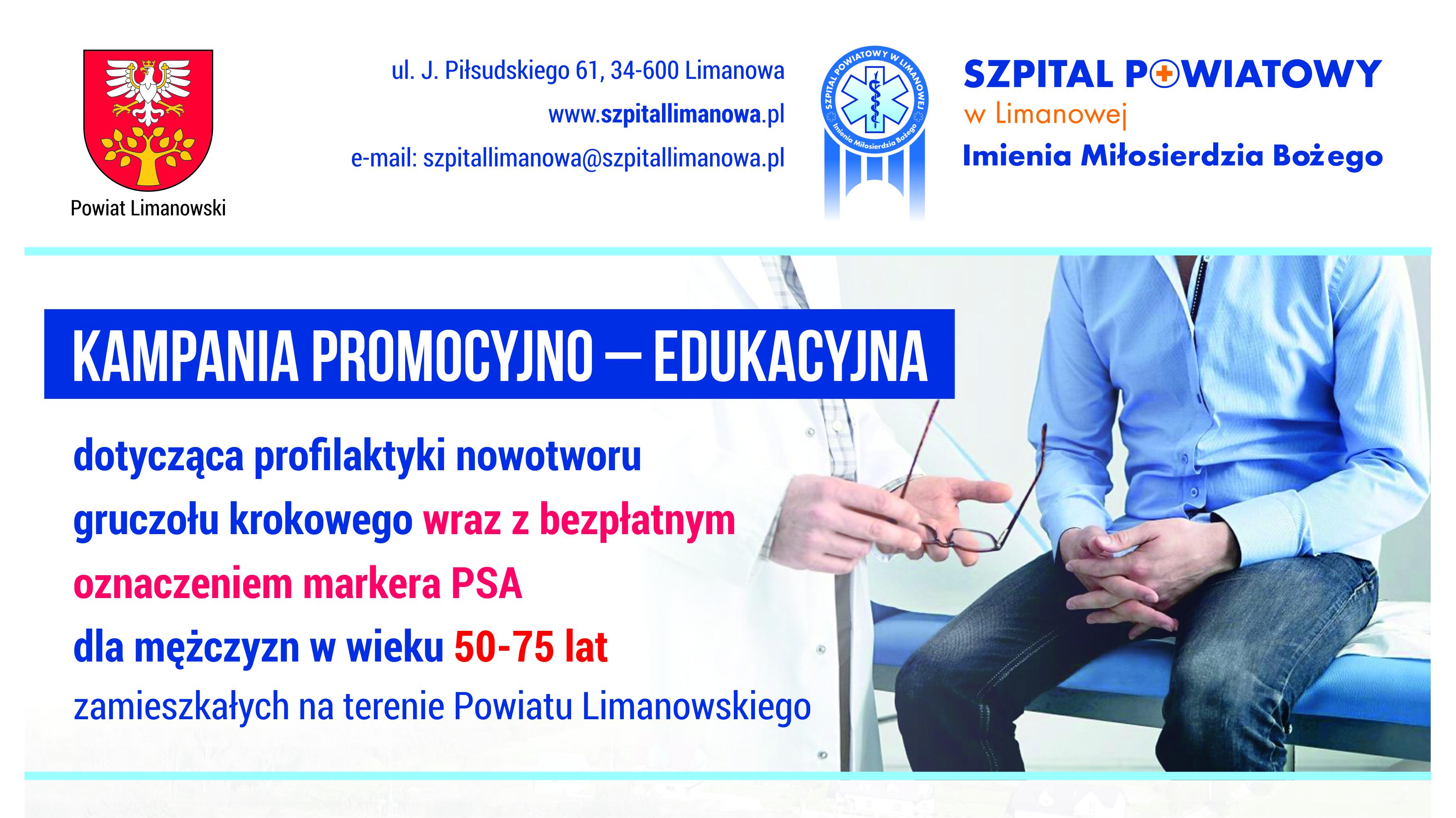 Kampania promocyjno -edukayjna Szpitala Powiatowego - plakat informacyjny 2