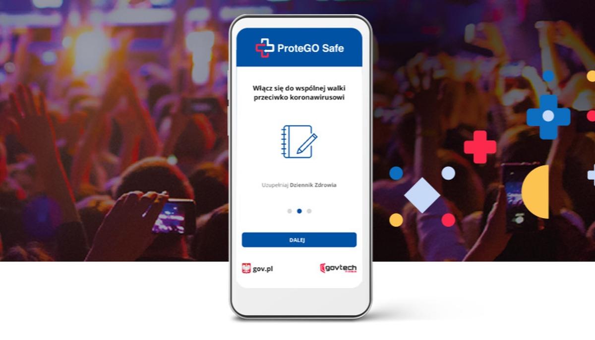 aplikacja ProteGO - plakat informacyjny