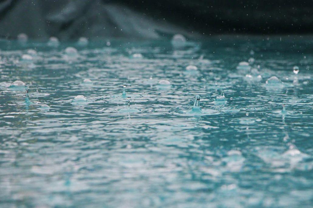 Woda podczas deszczu