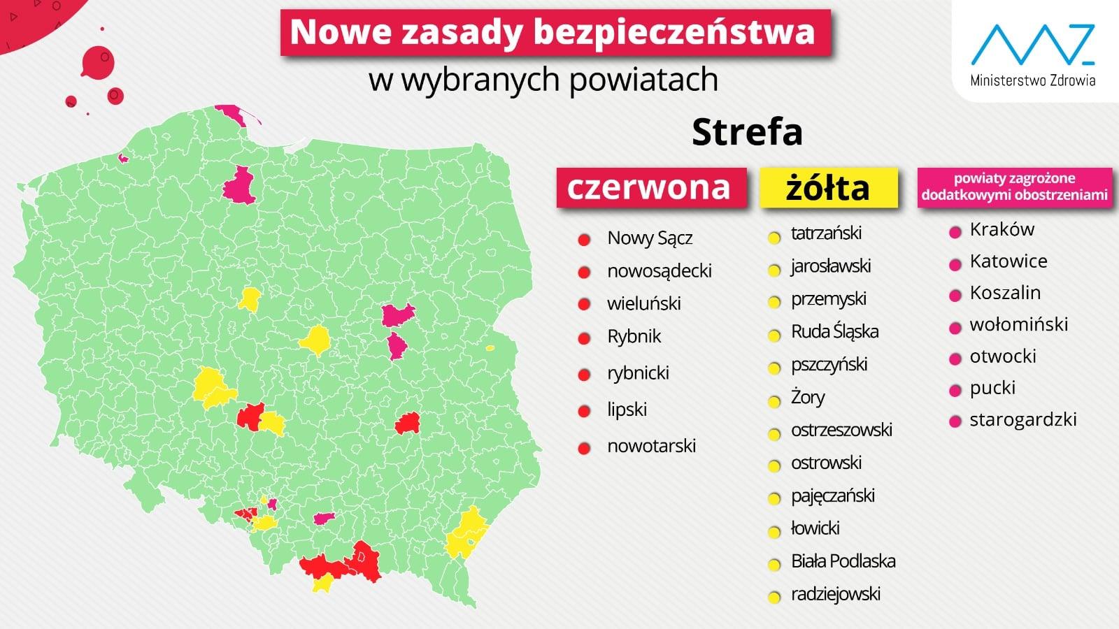 mapa - nowe zasady bezpieczeństwa