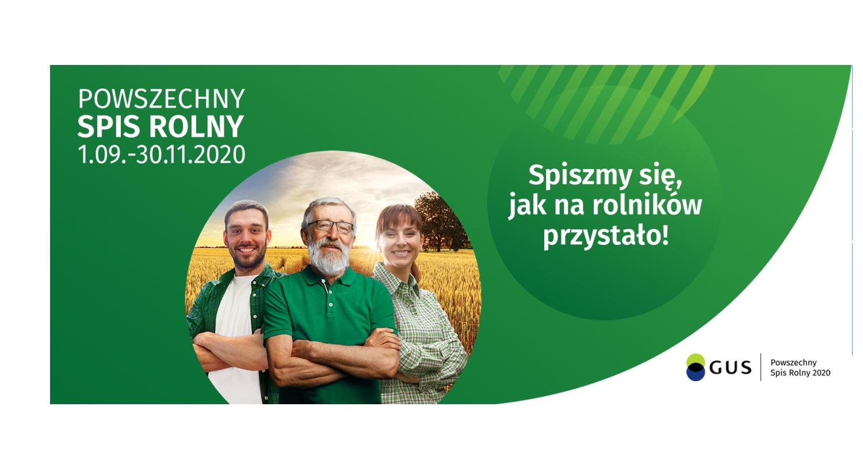 Spis rolny 2020 - plakat informacyjny