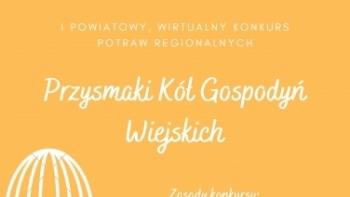 Powiatowy Wirtualny Konkurs Potraw Regionalnych - plakat