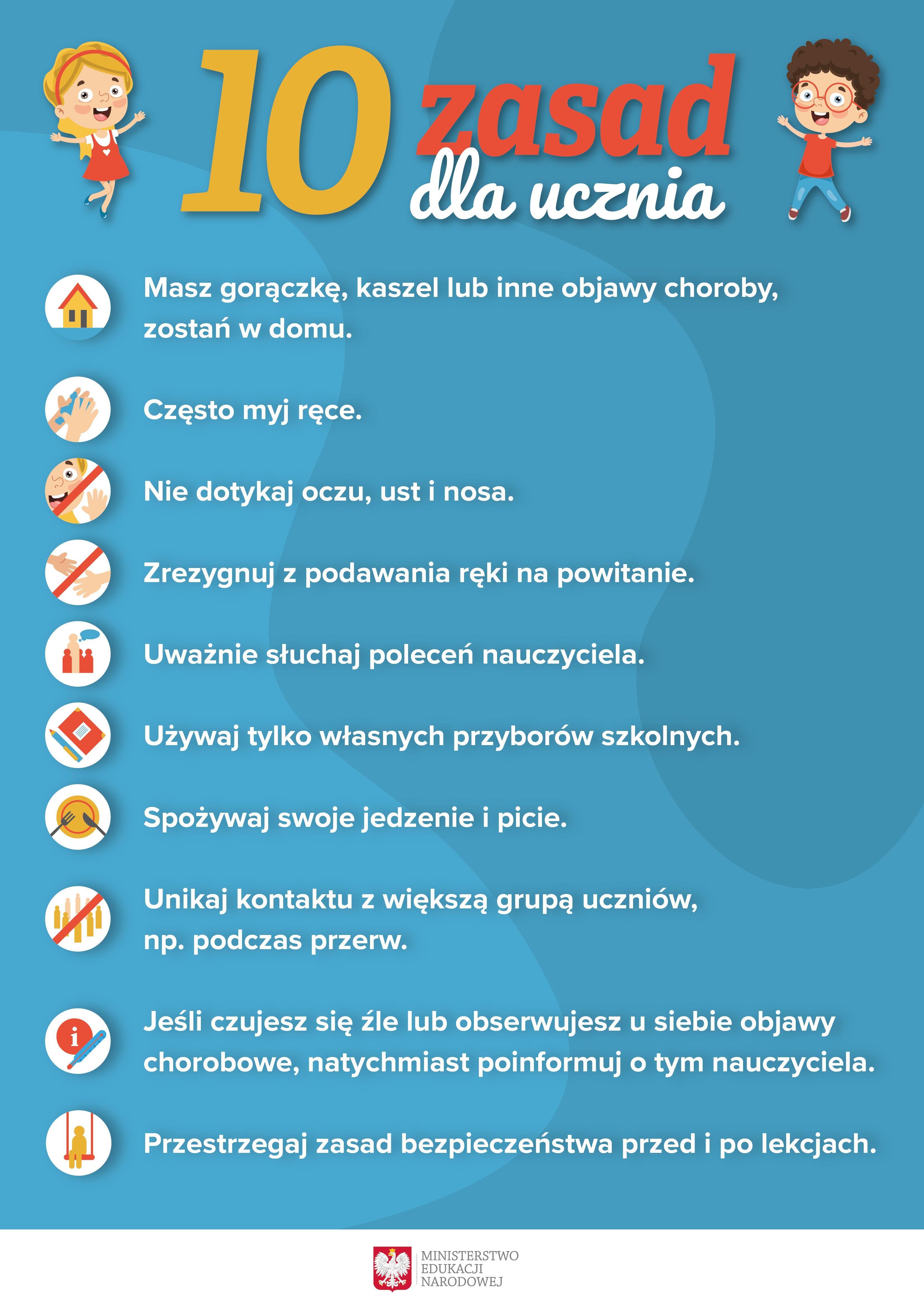 grafika - 10 zasad dla ucznia