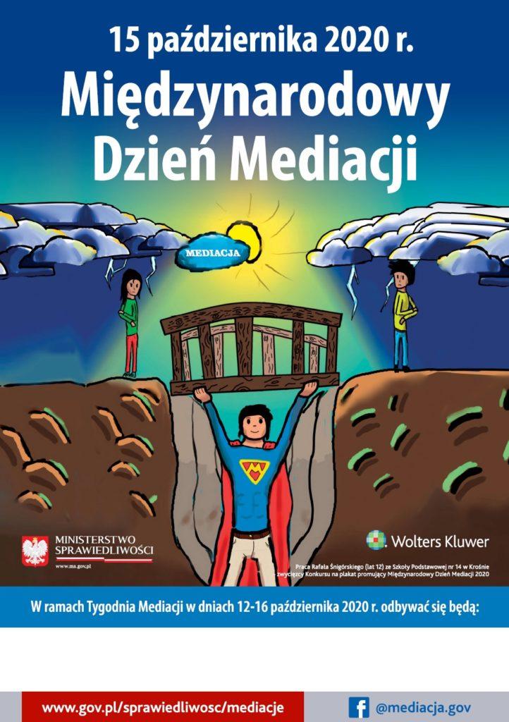grafika, plakat - Międzynarodowy Dzień Mediacji