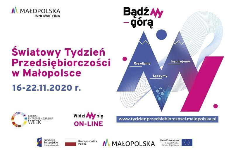 grafika - Światowy Tydzień Przedsiębiorczości w Małopolsce