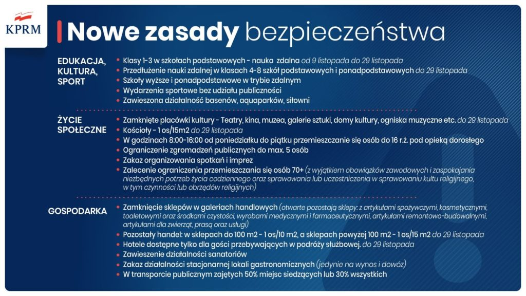 Nowe zasady bezpieczeństwa, plakat informacyjny.