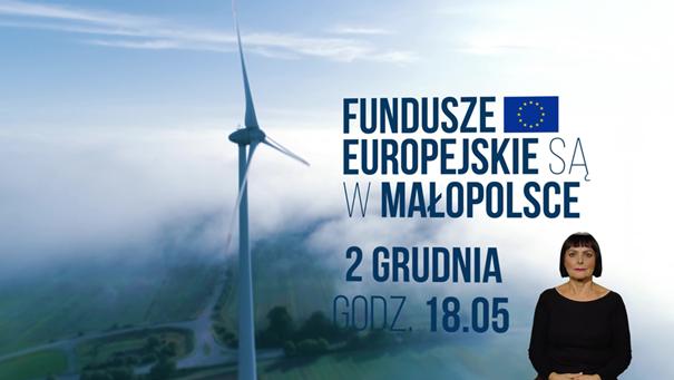 plakat - Fundusze Europejskie są w Małopolsce