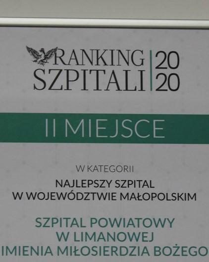 grafika - ranking szpitali 2020 - dyplom