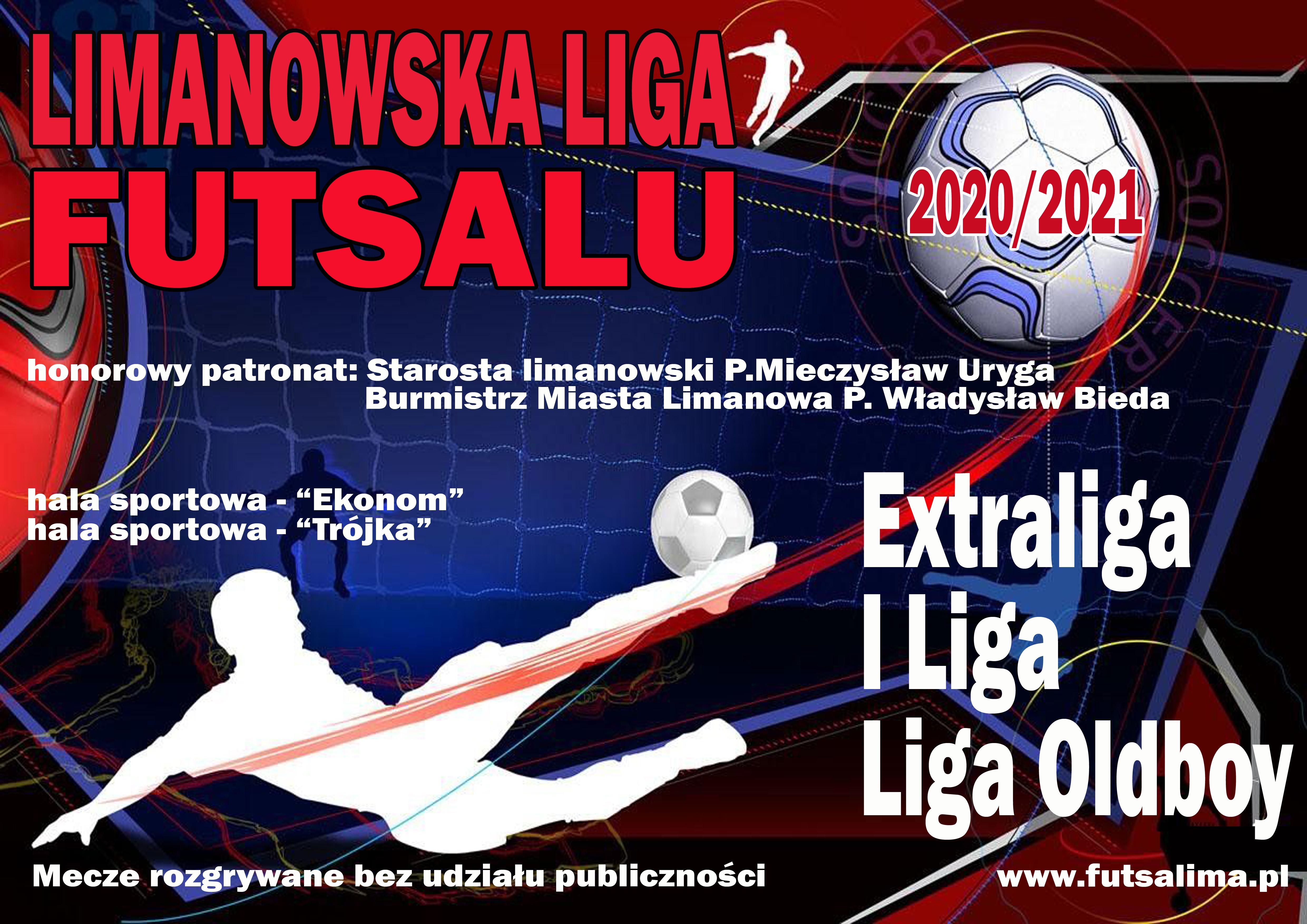 plakat - Limanowska Liga Futsalu