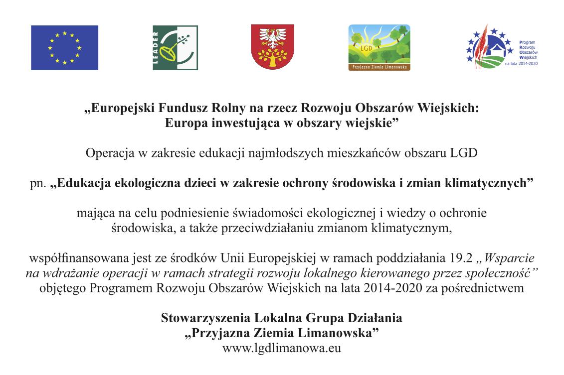 plakat - Edukacja ekologiczna dzieci w nzakresie ochrony środowiska i zmian klimatycznych