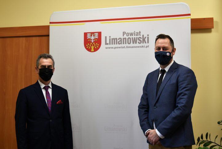 Starosta Limnaowski z Dyrektorem Regionalnego Centrum Krwiodawstwa i Krwiolecznictwa w Krakowie