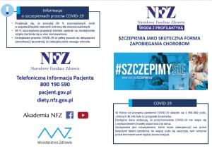 grafika NFZ - szczepimy się