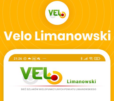 plakat Velo Limanowski - sieć szlaków wielofunkcyjnych Powiatu Limanowskiego